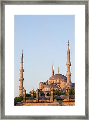 Blue Mosque In Istanbul Framed Print by Artur Bogacki