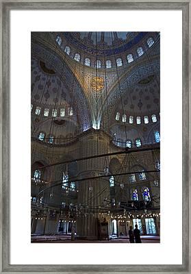 Blue Mosque Interior Framed Print by Cheri Randolph
