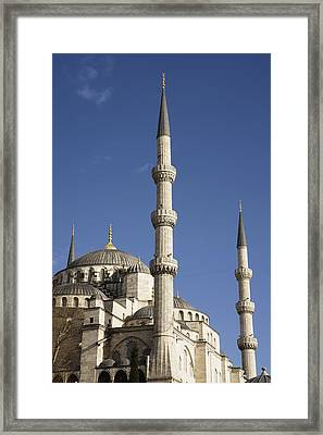 Blue Mosque Or Sultan Ahmet Camii Framed Print by Axiom Photographic