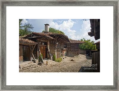 Blue Mountain Village Bulgaria Framed Print by Donald Davis