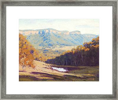 Blue Mountains Paintings Framed Print
