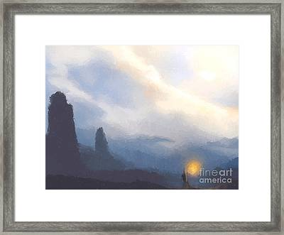 Blue Mountains  Framed Print by Pixel  Chimp