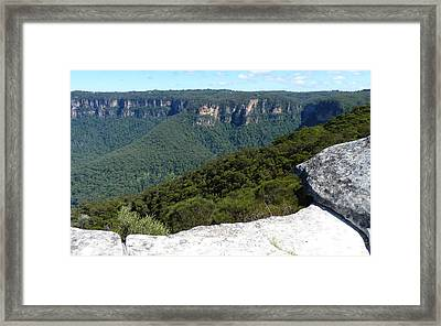 Blue Mountains Framed Print by Carla Parris