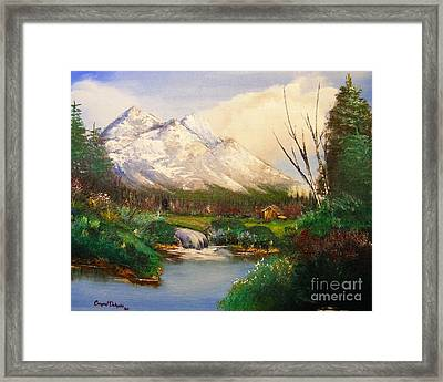 Blue Moutain Framed Print by Crispin  Delgado