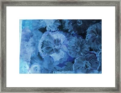 Blue Muted Memories Framed Print by Anne-Elizabeth Whiteway