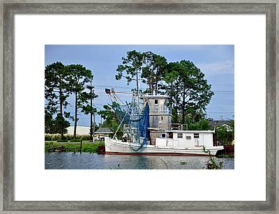 Blue Net Framed Print