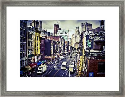 Blue New York City Framed Print by Brian Lambert