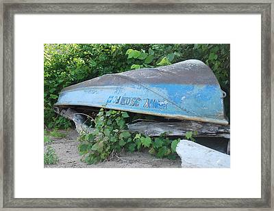 Blue New York Framed Print by Tiffany Ball-Zerges