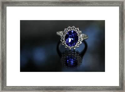 Blue On Bling Framed Print by Theresa Johnson