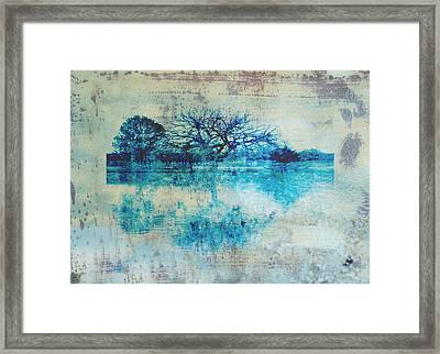 Blue On Blue Framed Print by Ann Powell