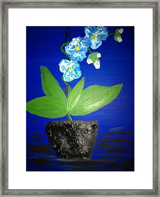 Blue Orchid 2 Framed Print by Pretchill Smith