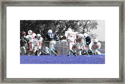 Blue Out Framed Print by Diana Gonzalez