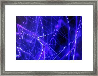 Blue Part 3 Framed Print by Artist Orange