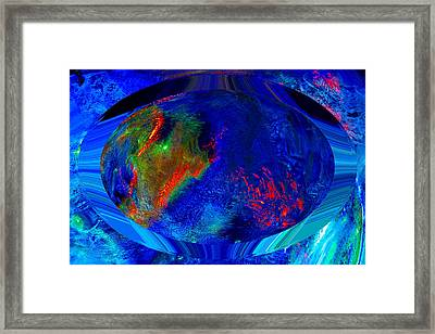 Blue Planet Framed Print by Colleen Cannon