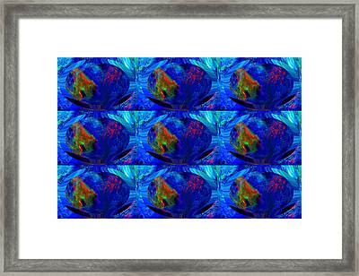 Blue Planet - Tiled Framed Print by Colleen Cannon