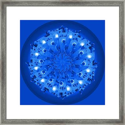 Blue Plate Framed Print by Linda Pope