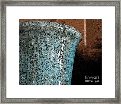 Blue Pottery Framed Print