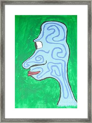 Blue Profile Framed Print by Jeannie Atwater Jordan Allen