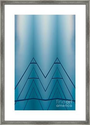 Blue Reflection Framed Print by Odon Czintos