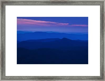 Blue Ridge At Dusk Framed Print by Andrew Soundarajan