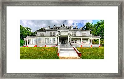Blue Ridge Cottage Framed Print