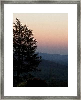 Framed Print featuring the photograph Blue Ridge Mountains by Elizabeth Coats