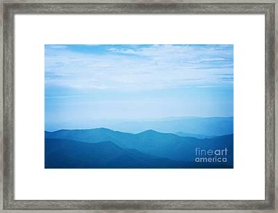 Blue Ridge Mountains Framed Print by Kim Fearheiley