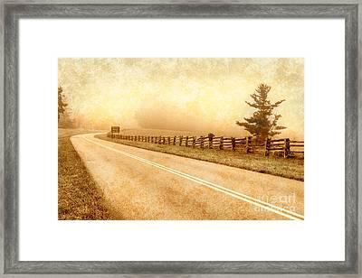 Blue Ridge Parkway At Northwest Trading Post II Framed Print by Dan Carmichael