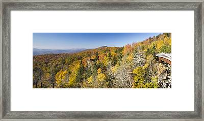 Blue Ridge Parkway In Autumn Framed Print