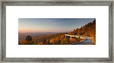 Blue Ridge Parkway Linn Cove Viaduct Framed Print by Dustin K Ryan