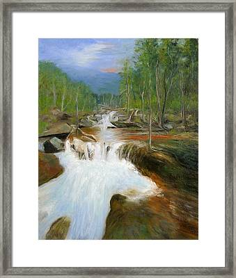 Blue Ridge Runoff Framed Print by Max Mckenzie