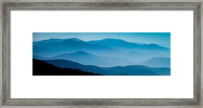 Blue Ridges Panoramic Framed Print