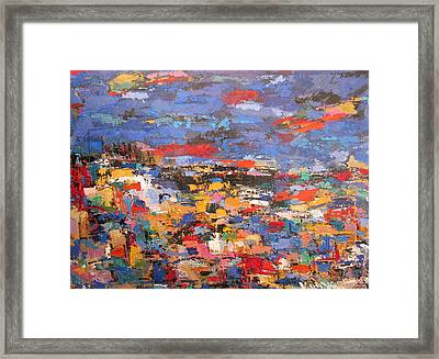 Blue Riviera Framed Print