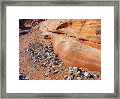 Blue Rocks Framed Print by Silvie Kendall