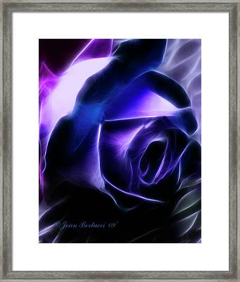 Framed Print featuring the photograph Blue Rose by Joan Bertucci