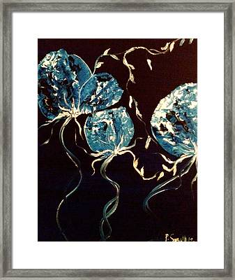 Blue Roses Framed Print by Pretchill Smith