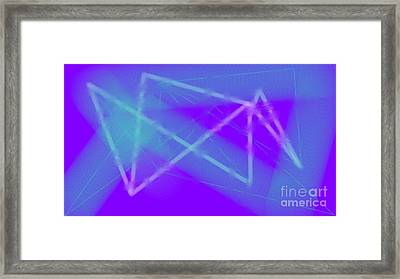 Blue Framed Print by Rosana Ortiz