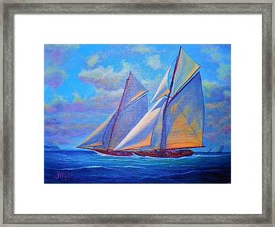 Blue Sails Framed Print