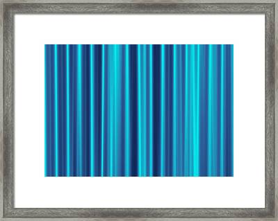 Framed Print featuring the digital art Blue Screen by Jeff Iverson