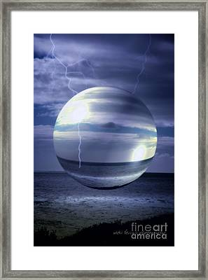 Framed Print featuring the photograph Blue Sea Hover Bubble by Vicki Ferrari