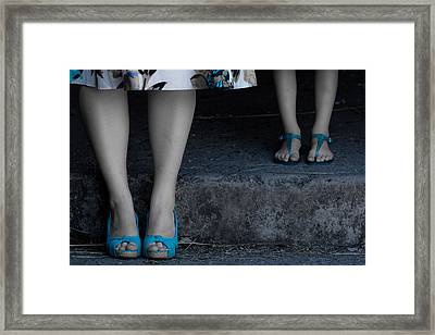 Blue Shoes Framed Print