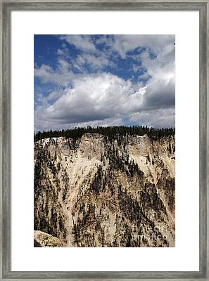 Framed Print featuring the photograph Blue Skies And Grand Canyon In Yellowstone by Living Color Photography Lorraine Lynch