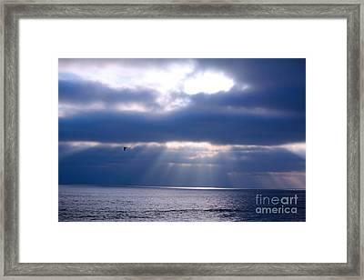Blue Skies Framed Print by Kim Pascu