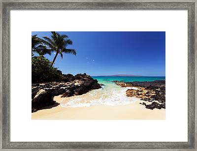 Blue Sky At Secret Beach Makena Framed Print