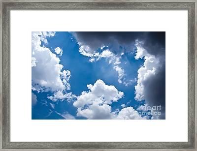 Blue Sky Framed Print by Gaurishankar Khatri