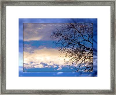 Blue Sky Framed Print by Michelle Frizzell-Thompson