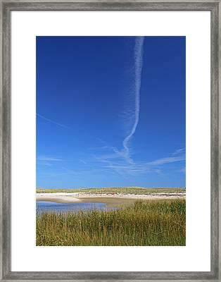 Blue Sky Over Nauset Beach Framed Print