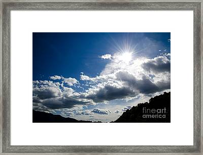 Blue Sky With Clouds Framed Print by Mats Silvan