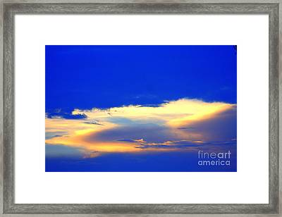 Blue Skys Framed Print by Bret Worrell