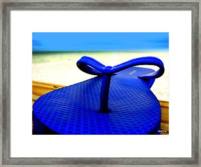 Blue Slippa Framed Print